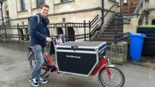 Bakfiets Long model with electric assist and flightcase lockable box