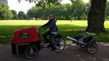 Cargobike and trailer
