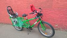 Mobile Library - example of bike available with 2x child seats (potentially 3)